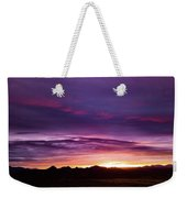 Purple Majesty Sunset Weekender Tote Bag