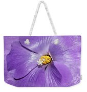 Purple Mallow Mist Weekender Tote Bag
