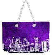 Purple Manhattan Weekender Tote Bag