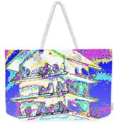 Purple Martin Bird House Weekender Tote Bag