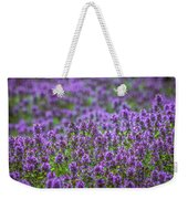Purple Meadow 3 Weekender Tote Bag