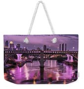 Purple Minneapolis For Prince Weekender Tote Bag