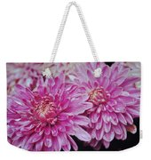 Purple Mums Weekender Tote Bag