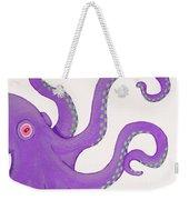 Purple Octopus Weekender Tote Bag