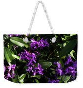 Purple Orchid Plant Weekender Tote Bag