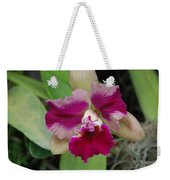 Purple Orchid Weekender Tote Bag