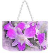 Purple Orchids Weekender Tote Bag