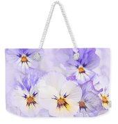 Purple Pansies Weekender Tote Bag