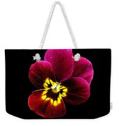 Purple Pansy On Black Weekender Tote Bag