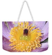 Purple Pasque Flower With Pollen Weekender Tote Bag
