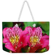 Purple Peruvian Lily Weekender Tote Bag
