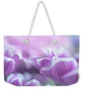 Purple Petals. Gentle Floral Macro Weekender Tote Bag