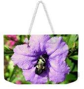 Purple Petunia With A Bee Weekender Tote Bag
