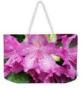 Purple Pink Horizontal Weekender Tote Bag
