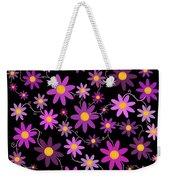 Purple Polka Weekender Tote Bag