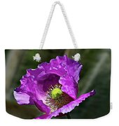 Purple Poppy Weekender Tote Bag
