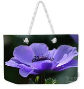 Purple Poppy Mona Lisa Weekender Tote Bag