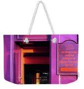 Purple Pub Weekender Tote Bag
