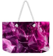 Purple Rose And Pansy Weekender Tote Bag