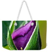 Purple Rose Bud Weekender Tote Bag