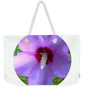 Purple Rose Of Sharon In Circle Frame Weekender Tote Bag