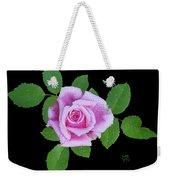 Purple Rosebud2 Cutout Weekender Tote Bag
