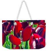 Purple Royals Tulips Weekender Tote Bag