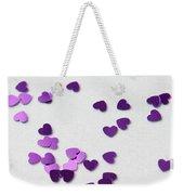Purple Scattered Hearts II Weekender Tote Bag