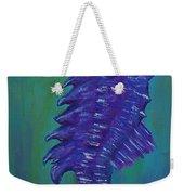 Purple Seahorse Weekender Tote Bag