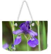 Purple Siberian Iris Weekender Tote Bag