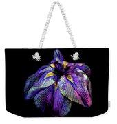 Purple Siberian Iris Flower Neon Abstract Weekender Tote Bag