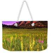 Purple Skies And Wildflowers Weekender Tote Bag