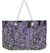 Purple Spikes Flora Impression 6.8.17  Weekender Tote Bag