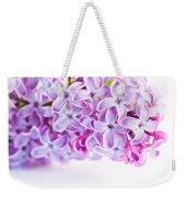 Purple Spring Lilac Flowers Blooming Weekender Tote Bag