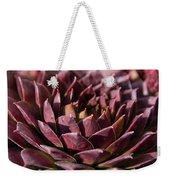Purple Succulent Weekender Tote Bag
