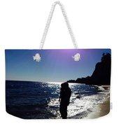 Purple Sun Evening Beach Weekender Tote Bag