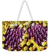 Purple Sunflower Seeds Weekender Tote Bag
