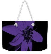 Purple Sunflower Weekender Tote Bag