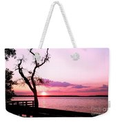Purple Coastal Sunset Weekender Tote Bag