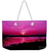 Purple Sunset Weekender Tote Bag