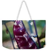 Purple Sweet Pea Pod Weekender Tote Bag
