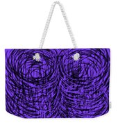 Purple Swirls Weekender Tote Bag