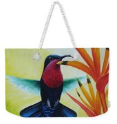 Purple-throated Carib And Bird Of Paradise Weekender Tote Bag