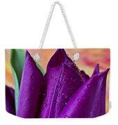 Purple Tulip Weekender Tote Bag by Garry Gay