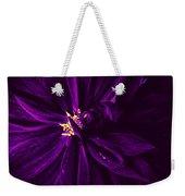 Purple Velvet Weekender Tote Bag