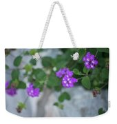 Purple Verbena Weekender Tote Bag