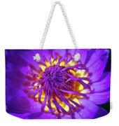 Purple Water Lily Macro Weekender Tote Bag