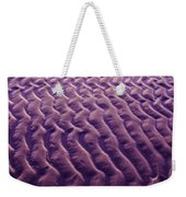 Purple Waves Of Sand Weekender Tote Bag