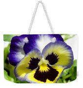 Purple White And Yellow Pansy Weekender Tote Bag