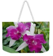 Purple White Orchids Weekender Tote Bag